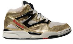dbd0c01c18e2e The first shoe to have an internal inflation system to customize your fit.  The flashy Reebok Pump Omni Lite Gold Metallic Pack made strides in the  early and ...