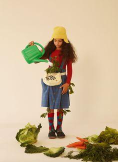 A fun editorial called Veggie Time by Annah Segarra & Carmen Ordonez