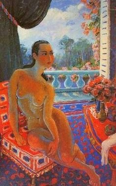Untitled (nude at window) by Chinese Modern artist Pan Yuliang (1895-1977). via Blog of an Art Admirer