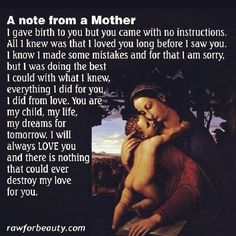 A mothers love.