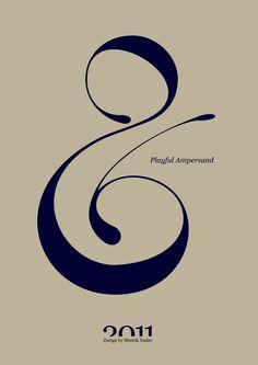 Playful Ampersand // Experimental Typography by Moshik Nadav