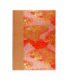 "Gift for #engineer/draftsman beautiful Blank Book w/Graph Paper""TANGERINE CRANES"" by WolfiesBindery $25"