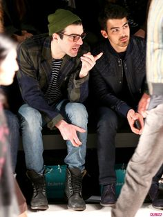 Zachary Quinto, Joe Jonas and girlfriend Blanda Eggenschwiler, along with actor Bryan Greenberg, were in attendance at the Richard Chai fashion show during Mercedes-Benz Fashion Week Fall 2014 at The Salon at Lincoln Center today (February 6, 2014) in New York City.