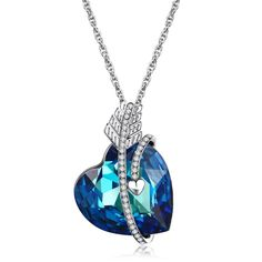 Heart of Ocean-Swarovski Crystal Pendant Necklace for Women-valentines Day gifts 35$ http://www.amazon.com/Lelekiss-SWAROVSKI-Elements-Necklace-Valentines/dp/B01A2S2D5O/ref=sr_1_1?ie=UTF8&qid=1451873304&sr=8-1&keywords=heart+of+the+ocean+necklace