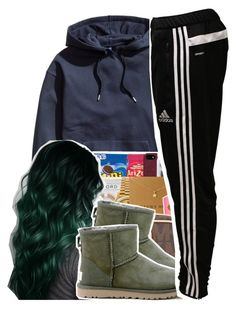 Untitled #387 by xotwodmayne ❤ liked on Polyvore featuring H&M, UGG Australia, adidas, women's clothing, women, female, woman, misses and juniors