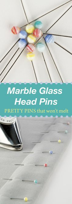Press a folded hem with no worries; these pretty yet practical glass heads won't melt. Nancy's Notions | Sewing | Quilting | Pins
