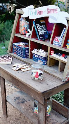 Cool wedding entertainment ideas for 2016. Plenty of board games. Katie Cassidy Photography. #wedding #entertainment