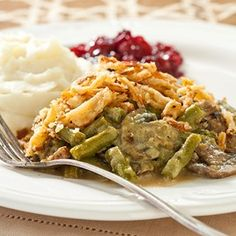An oven-free Green Bean Casserole that'll cook in the background as you prepare your Thanksgiving feast.
