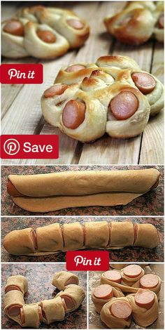 Creative Ideas - DIY Flower Shaped Hotdog bun Every kid seems to love hot dog. The combination of hot dog and bread dough will be great to satisfy them. Lets give regular hot dog diys Snack Recipes, Cooking Recipes, Dinner Recipes, Pizza Recipes, Bread Recipes, Dinner Ideas, Creative Food, Creative Ideas, Yummy Food