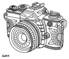 Yucca Flats, N.M.: Wenchkin's coloring pages - Dia de los Camera by whitney