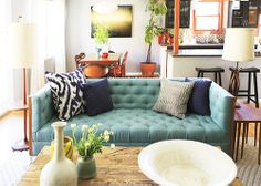 I like this couch. Mostly I like the way the colors work together.