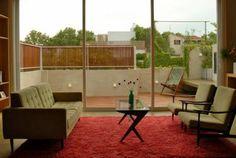 Integração quarto/sala-área externa. Hotel Palermo, BA