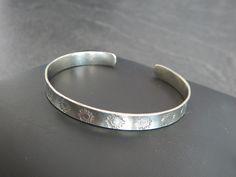 """Bracelet jonc """"Lili"""" argenté motif SOLEIL : Bracelet par bijou-lie"""