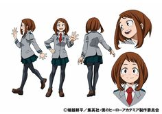 Revelado diseños para Ochako y Tenya del Anime Boku no Hero Academia.