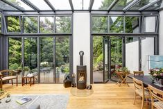 Anbau Wintergarten Duvenstedt Kamin - The Blue House - - Trend Anbau Backstein 2020 Fireplace Pictures, Modern Fireplace, Amazing Gardens, Beautiful Gardens, Fireplace Garden, Outdoor Baths, House Extensions, Diy Garden Decor, Winter Garden