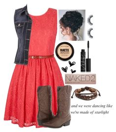 """""""Barn Dance"""" by lizzybel-18 ❤ liked on Polyvore featuring Yumi, maurices, Madden Girl, Maybelline, Urban Decay, NARS Cosmetics, West Coast Jewelry and beldesigns16"""