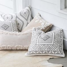 A work-of-art for your sofa. Our artisans hand embellish these pretty-as-a-picture pillows on neutral backgrounds so you can easily add to your space. Home Garden Design, Home Design Plans, Home Office Design, Couch Pillows, Throw Pillows, Accent Pillows, Cushions, Home Icon, Living Room On A Budget