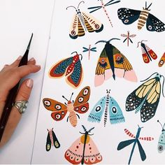 Woodland moths, which is your fave? Woodland moths, which is your fave? Woodland moths, which is your fave? Woodland moths, which is your fave? Art Inspo, Kunst Inspo, Painting Inspiration, Art Journal Inspiration, Journal Ideas, Art Sketches, Art Drawings, Animae Drawings, Doodle Art Drawing