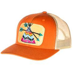 Women's McIntire Saddlery Orange Cap with Teepee Patch