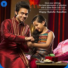 As a kid, you often fight with your #siblings. This #RakshaBandhan, give your sibling the best expression of affection. #StateBank #GiftCard #brothers #sister #gifts