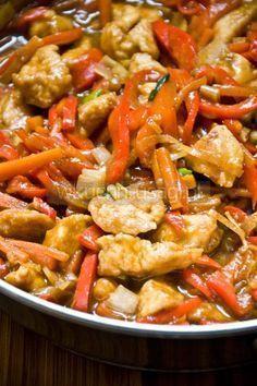 Kurczak pięciu smaków Healthy Dishes, Healthy Recipes, Vegan Junk Food, Good Food, Yummy Food, Brunch Recipes, Dinner Plates, Asian Recipes, Food Inspiration
