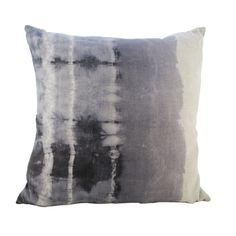 Hand dyed Shibori Linen Pillow