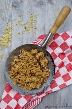 Experimente aus meiner Küche: Hähnchen-Mozzarella-Pasta mit getrockneten Tomaten