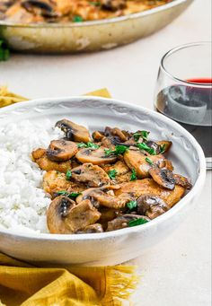 This Easy Chicken Marsala Recipe makes for a great weeknight meal but is also fancy enough to serve to company! A creamy chicken dish that's east to make Chicken Recipes Video, Easy Chicken Dinner Recipes, Baked Chicken Recipes, Easy Meals, Chicken Coconut Soup, Coconut Soup Recipes, Brown Rice Nutrition, Marsala Recipe, Creamy Mashed Potatoes