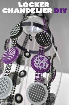 Locker Chandelier | 17 DIY Locker Decorations, see more at: http://diyready.com/17-diy-locker-decorations/