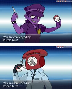 I WOULD SO BATTLE PURPLE GUY!