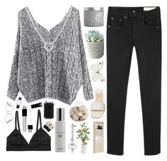 """""""Never have I Ever"""" by xxpai ❤ liked on Polyvore featuring Theory, rag & bone/JEAN, red flower, Pier 1 Imports, String, Colbert MD, Monki, Christian Dior, Forever 21 and GlassesUSA"""