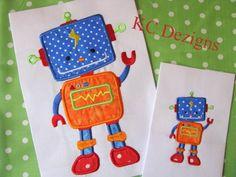 Robot Boy 01 Applique