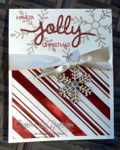 Jolly Christmas by Wendy Lee, #creativeleeyours, Stampin' Up!, Holly Jolly greeting s, christmas card