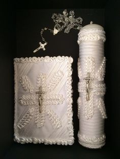 First Holy Communion... candless bible rosary box. por ErikaDesings
