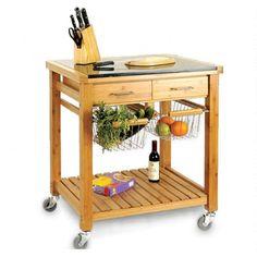 KSP Natura Bamboo Kitchen Cart