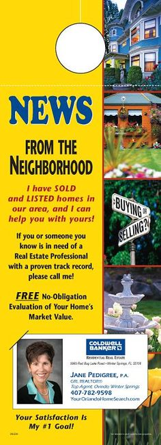 Real Estate Neighborhood Door Hangers  ExamplesFlyers Postcards