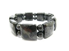 Shungite Bracelet From Russia - Squared   Round Beads ** Find out…