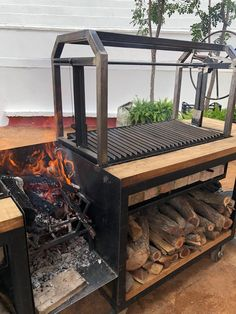 Grill N Chill, Fire Grill, Bbq Grill, Barbecue Design, Grill Design, Outdoor Bbq Kitchen, Outdoor Cooking, Argentina Grill, Argentinian Bbq