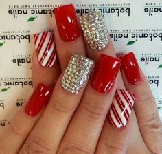 Christmas nail design.. I would like it more if the nails were shorter but I love the design :)