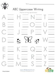 Bug themed lowercase alphabet worksheet Science Worksheets, Alphabet Worksheets, Worksheets For Kids, Printable Activities For Kids, Educational Activities, Writing Practice, Bugs, Teacher, Letters