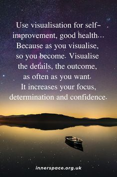 The power of visualisation Mind Gym, Covent Garden, Self Improvement, Meditation, Mindfulness, Inspirational Quotes, Success, Positivity, Health