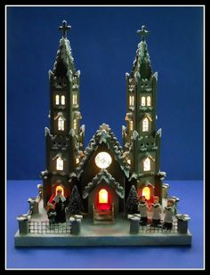 Howard Lamey's latest putz creations-the Cathedral by mcudeque, via Flickr