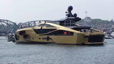 Palmer Johnson Golden 48m SuperSport Yacht in Sturgeon Bay.