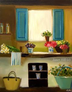 A Vintage Touch: A Collection of Original Janet Hill Paintings...