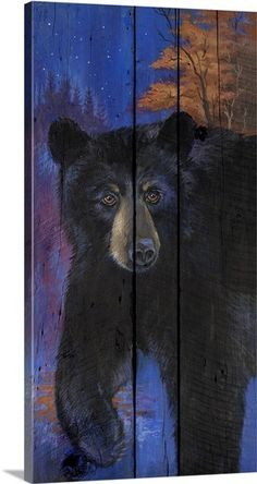Bear Wallpaper, Painting Wallpaper, Canvas Prints, Framed Prints, Art Prints, Black Bear Decor, Hunting Painting, Bear Gallery, Diy Canvas Art
