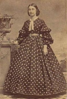 Civil War Era Dress---my notes: lots of details in this, sleeves, belt, chain/jewel attachment,  hair braids