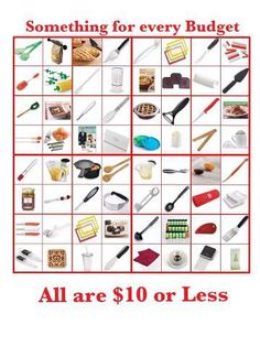 Pampered Chef has something for every budget. Host a show and you can get wish list for free, discounted or half priced. Ask me how!