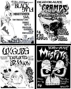BOBBY LANE - punk rock posters of the 1980's ( set 3 ) - EACH HAND SIGNED