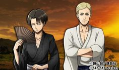 Official art, Levi and Erwin- Shingeki no Kyojin, Attack on titan.