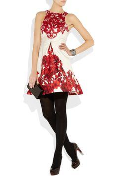 Tibi - Floral-print silk-gazaar dress